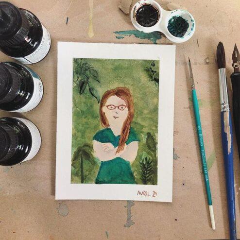 Autoportrait - avril
