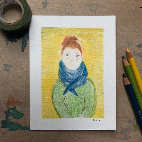 Autoportrait - février