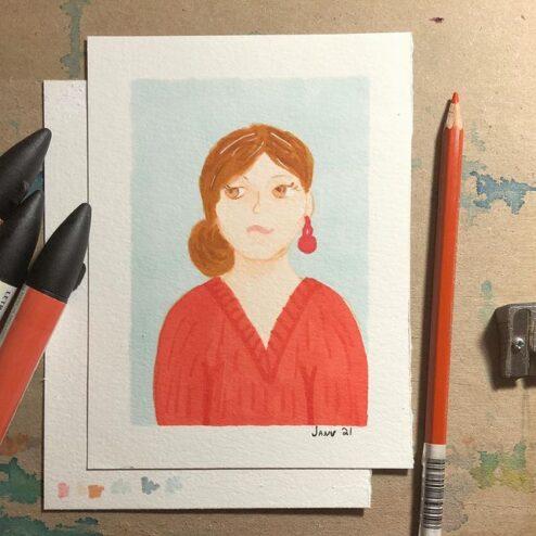Autoportrait - janvier